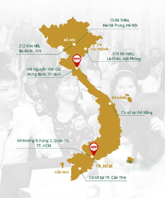 Hệ thống chuỗi TMV Đông Á tại Việt Nam