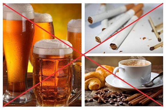 Tránh xa các chất kích thích và thực phẩm không có lợi