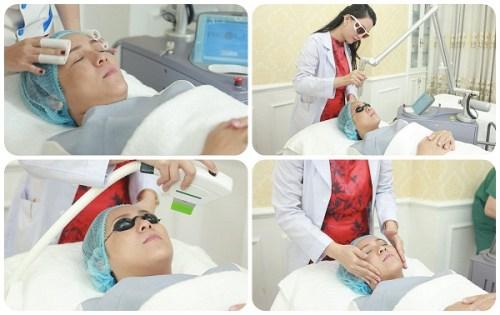 Thạc sĩ - Bác sĩ Huỳnh Thị Tuyết Như điều trị nám da cho khách hàng