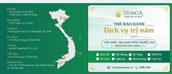 Đông Á Beauty là đơn vị duy nhất bảo hành kết quả khách hàng khi điều trị nám.