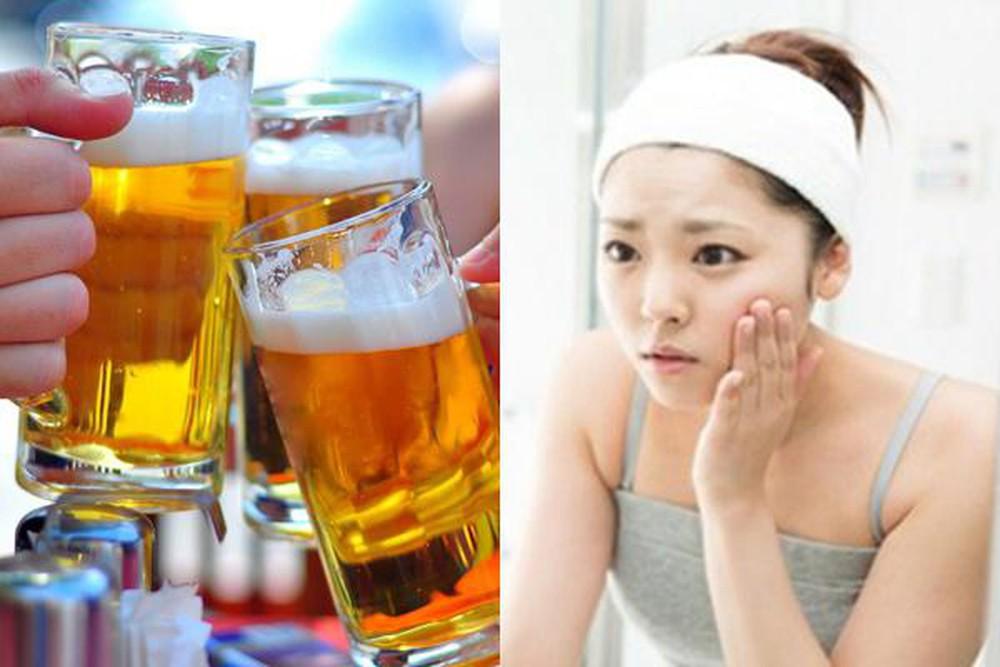 Rượu bia cũng là nguyên nhân gây sạm da
