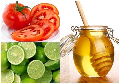 Hỗn hợp mặt nạ cà chua, mật ong, chanh tốt cho làn da